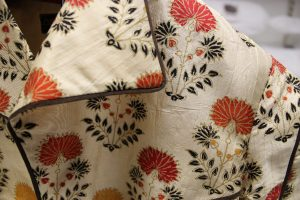 A patterned silk jacket
