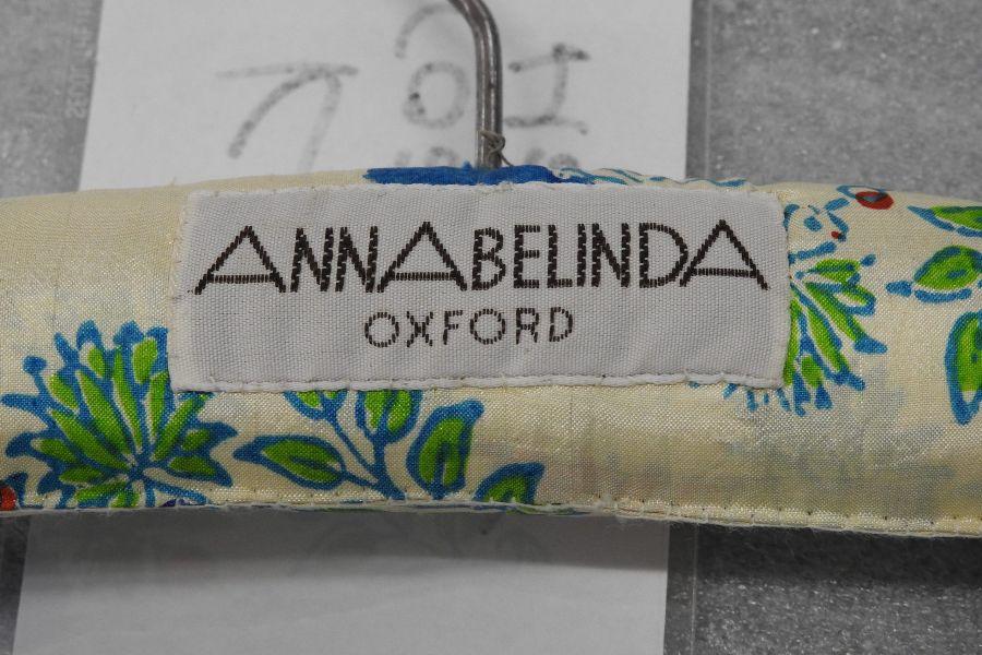 Coat hanger with Annabelinda written on it