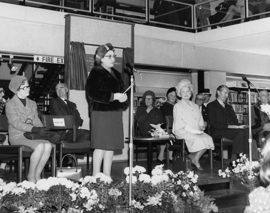 Olive Gibbs at Library