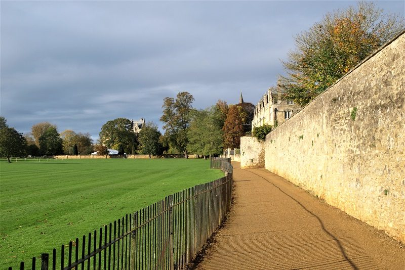 Photograph of the cricket pitch on the left of Dead Man's walk