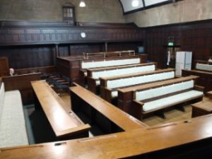 The Court Room from inside Oxford Town Hall.