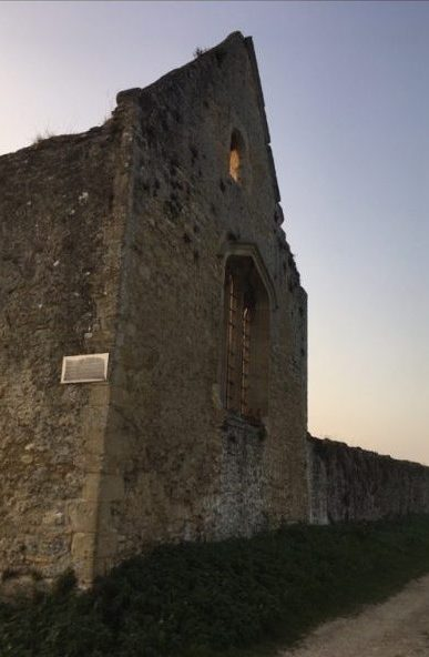 Photograph of the ruins of Godstow Nunnery taken at dusk