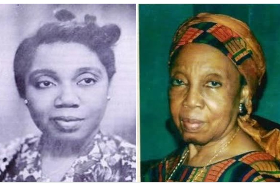 Two photos, one balck and white and the other in colour showing a black lady in her mid twenties and then as an older woman
